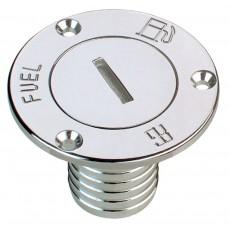 """FUEL"" deck filler with hose connector"