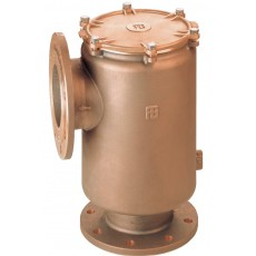 Vertical intake water strainer with PN6/PN16 flanges