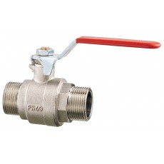 Lever operated ball valve M-M full flow
