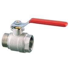 Lever operated ball valve M-F full flow