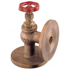 """""""Globe"""" angle valve metal tightness with undrilled or PN6/16 drilled flanges"""