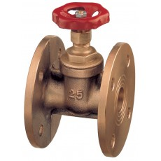 Gate valve with PN6/16 drilled flanges