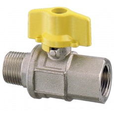 "Throttle operated ball valve M-F - full flow ""2000"" series"