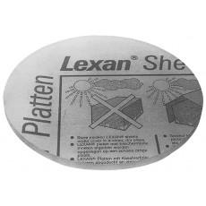 Disco in policarbonato trasparente per filtro