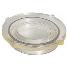 Coperchio in grilamid TR55 trasparente e O-ring in neoprene per filtro