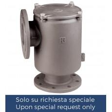 Filtro depurazione acqua a squadra con flange PN6/PN16